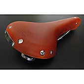 Viking CroMo Leather Saddle 280mm x 150mm - Honey