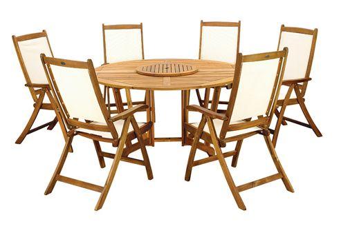 Buy Henley 7pc Round Dining Set Henley 150cm Round Gateleg Table Lazy