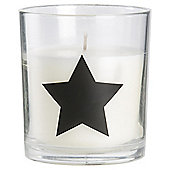 Sweet Vanilla Alphabet Candle Star Symbol