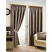 Brook Ready Made Curtains Pair, 46 x 90 Mink Colour, Modern Designer Look Pencil pleated curtains