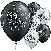11' Birthday Elegant Sparkles & Swirls (25pk)