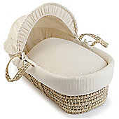 Clair de Lune Palm Moses Basket (Soft Waffle Cream)
