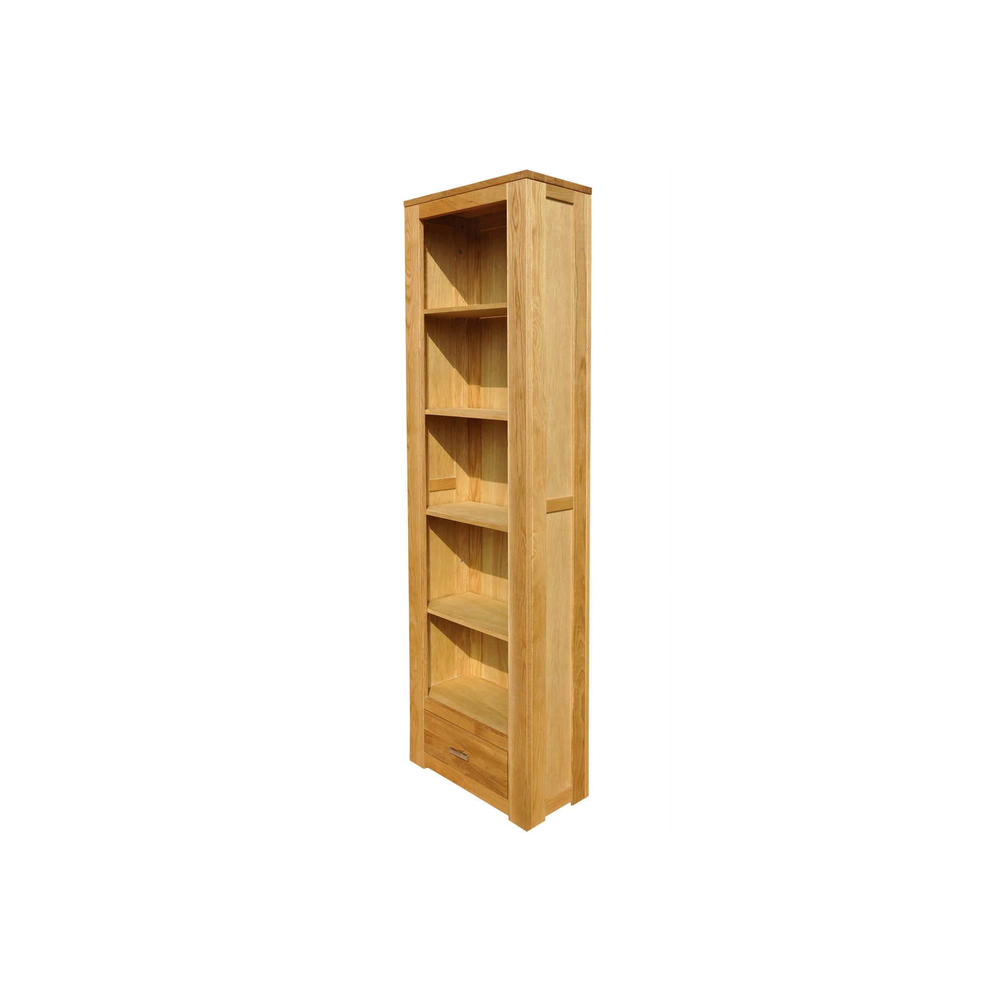 Home Zone Furniture Churchill Oak 2010 Narrow Book Case in Natural Oak at Tesco Direct