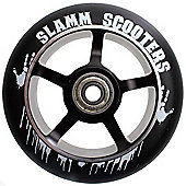 Slamm 100mm Essential Spoke Metal Core Scooter Wheel and Bearings - Black