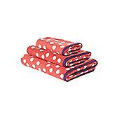 Pink Polka Dot Hand Towel