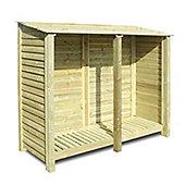 Normanton wooden log store - 6ft