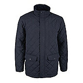 Mens Cullin Equestrian Horse Riding Country Quilted Jacket - Blue