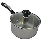 Ready Steady Cook Classic Stainless Steel 16cm Saucepan with Lid - 16cm