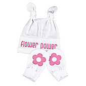 Spoilt Rotten - Flower Power Knot Hat & Scratch Mits Baby Set