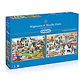 Wigwams and Woolly Hats - 2 x 500pc Puzzle