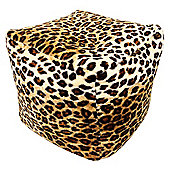 Kaikoo Leopard Print Pouffe