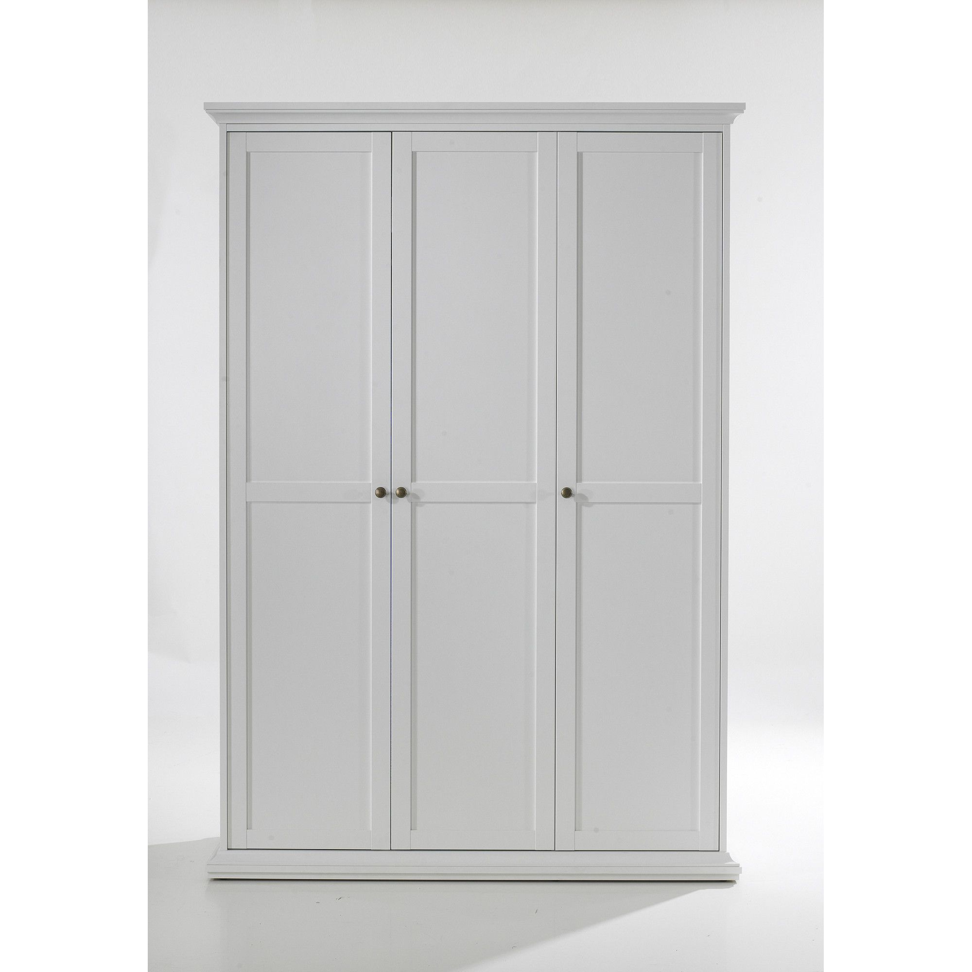 Tvilum Paris Three Door Wardrobe in White at Tesco Direct