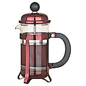 Tesco Cafetiere Red  Metallic, 3 Cup