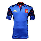 adidas France 2015/16 S/S Players Home Test Rugby Shirt - Sizes S - XL - Blue