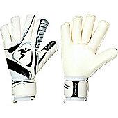 Precision Training Brasileirao Contact Roll Finger GK Gloves - White/Black - White