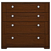 Modular Walnut 4 Drawer Chest With Walnut Shaker Drawers