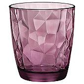 Bormioli Hammered Glass, Pink, Single