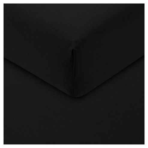 Tesco Fitted Sheet Single Black