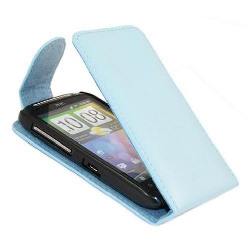 Blue FlipMatic Easy Clip On Vertical Pouch Case - HTC Desire Z