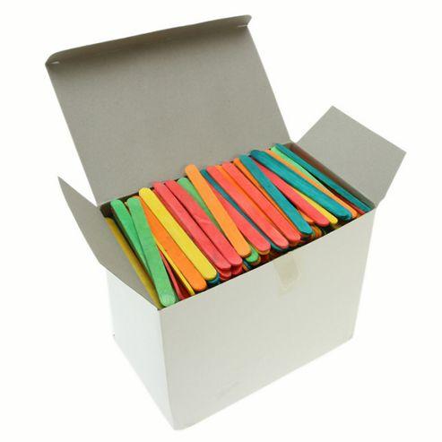 Lollipop Sticks - Assorted Colours 1000 Pk