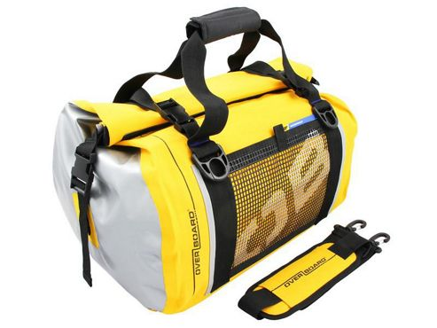 OverBoard 40 Litre Waterproof Roll-Top Duffle Bag, Yellow