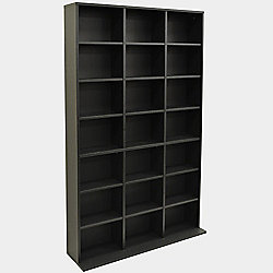 Pigeon Hole - 588 Cd / 378 Dvd Blu-ray Media Storage Unit - Black