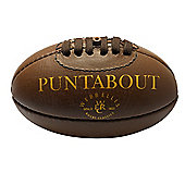 Webb Ellis Official Puntabout Leather Rugby Ball sz mini