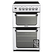 Hotpoint Ultima Electric Cooker, HUE53PS, White