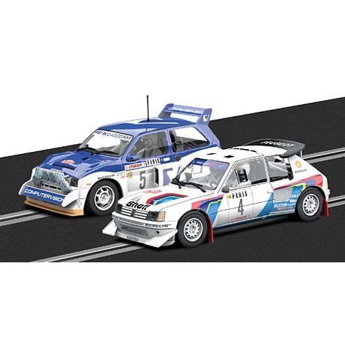 Scalextric Slot Car C3590a Peugeot 205 T1 6 E2 & Mg Metro 6r4 Ltd Ed
