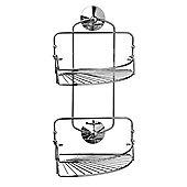 Corner - Bathroom Storage 2 Shelf / Caddy - Silver