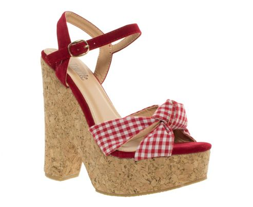 Cork Scooped Wedge Sandals