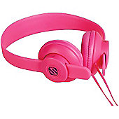 Scosche lobeDOPE On Ear Headphones (Pink) with Microphone
