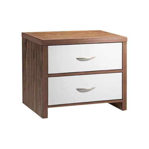 Home Zone Milan 2 Drawer Bedside Table