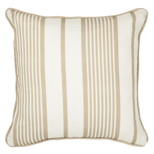Ticking Stripe Cushion 43X43Cm Natural