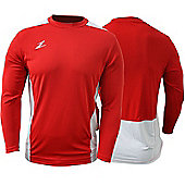 Ziland Team Football Shirt Long Sleeve - Red & White