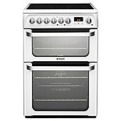 Hotpoint HUE61PS, White, Electric Cooker, Double Oven, 60cm