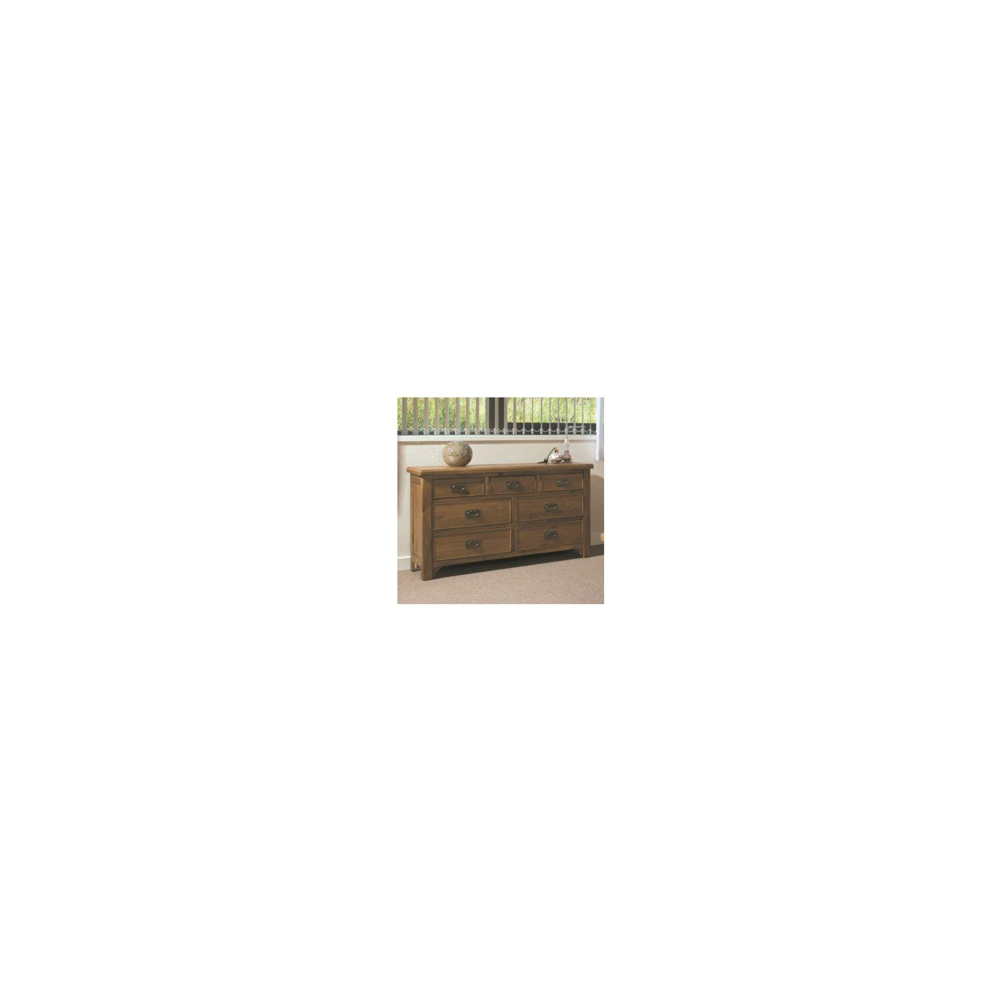 Kelburn Furniture Marino Rustic Oak 3 over 4 Drawer Chest at Tesco Direct
