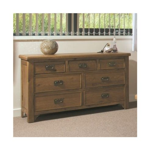 Kelburn Furniture Marino Rustic Oak 3 over 4 Drawer Chest