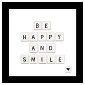 Be Happy And Smile 3D Box Frame 35X35