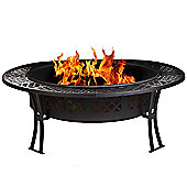 CobraCo Diamond Mesh Fire Pit with Screen & Cover