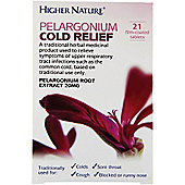 Higher Nature Pelargonium Cold Relief 21 Tablets