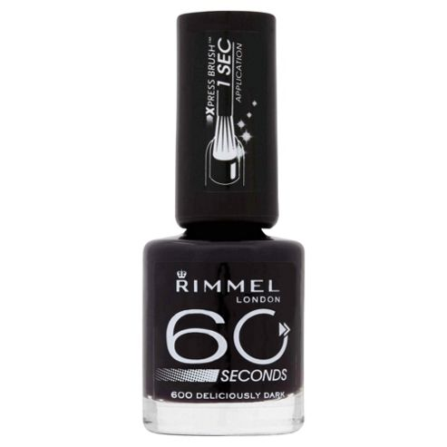 Rimmel 60 Second Nail Polish Deliciously Dark