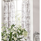 Kew Gardens Toile Pencil Pleat Lined Curtains 66x72 - Grey