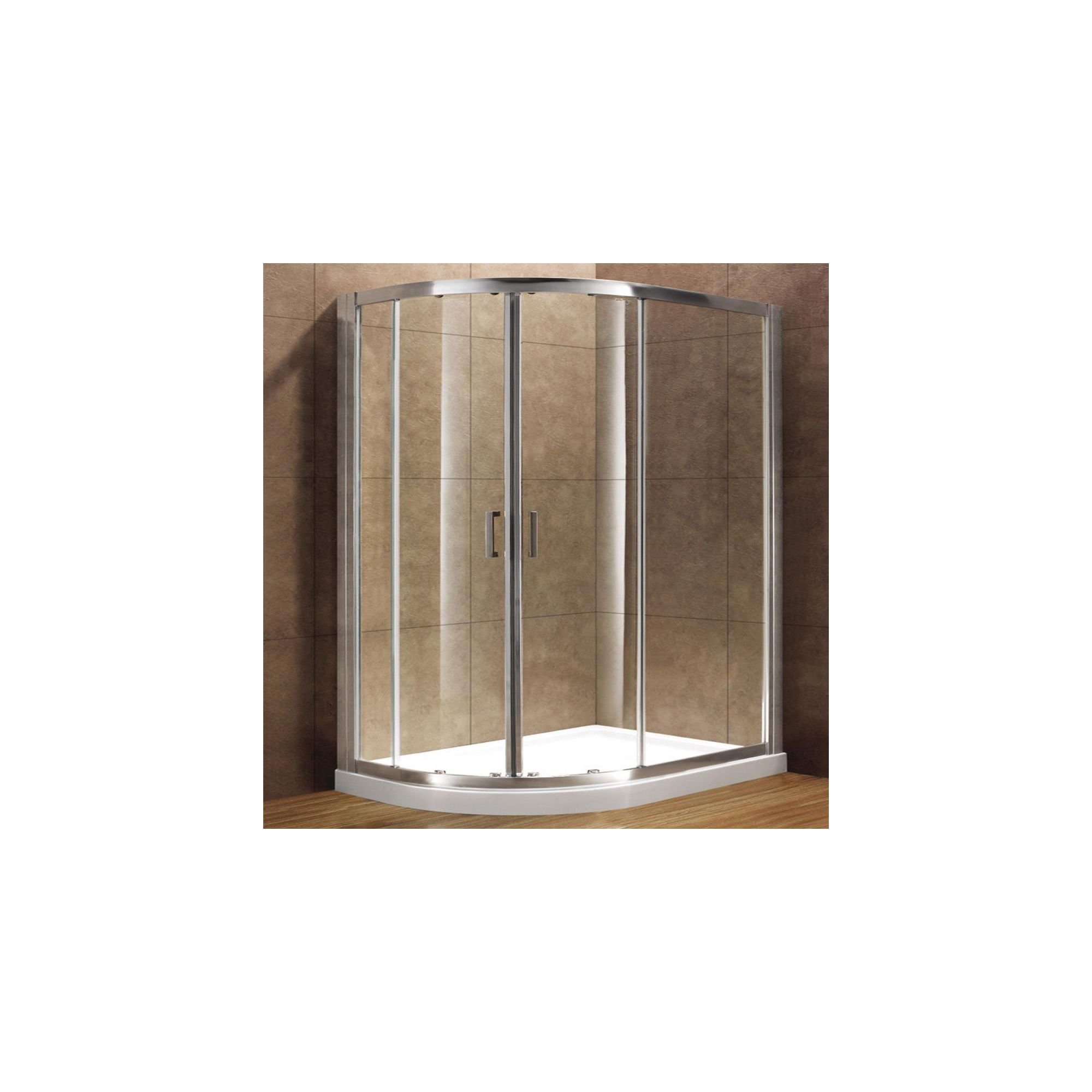 Duchy Premium Double Quadrant Door Shower Enclosure, 1000mm x 1000mm, 8mm Glass, Low Profile Tray at Tesco Direct