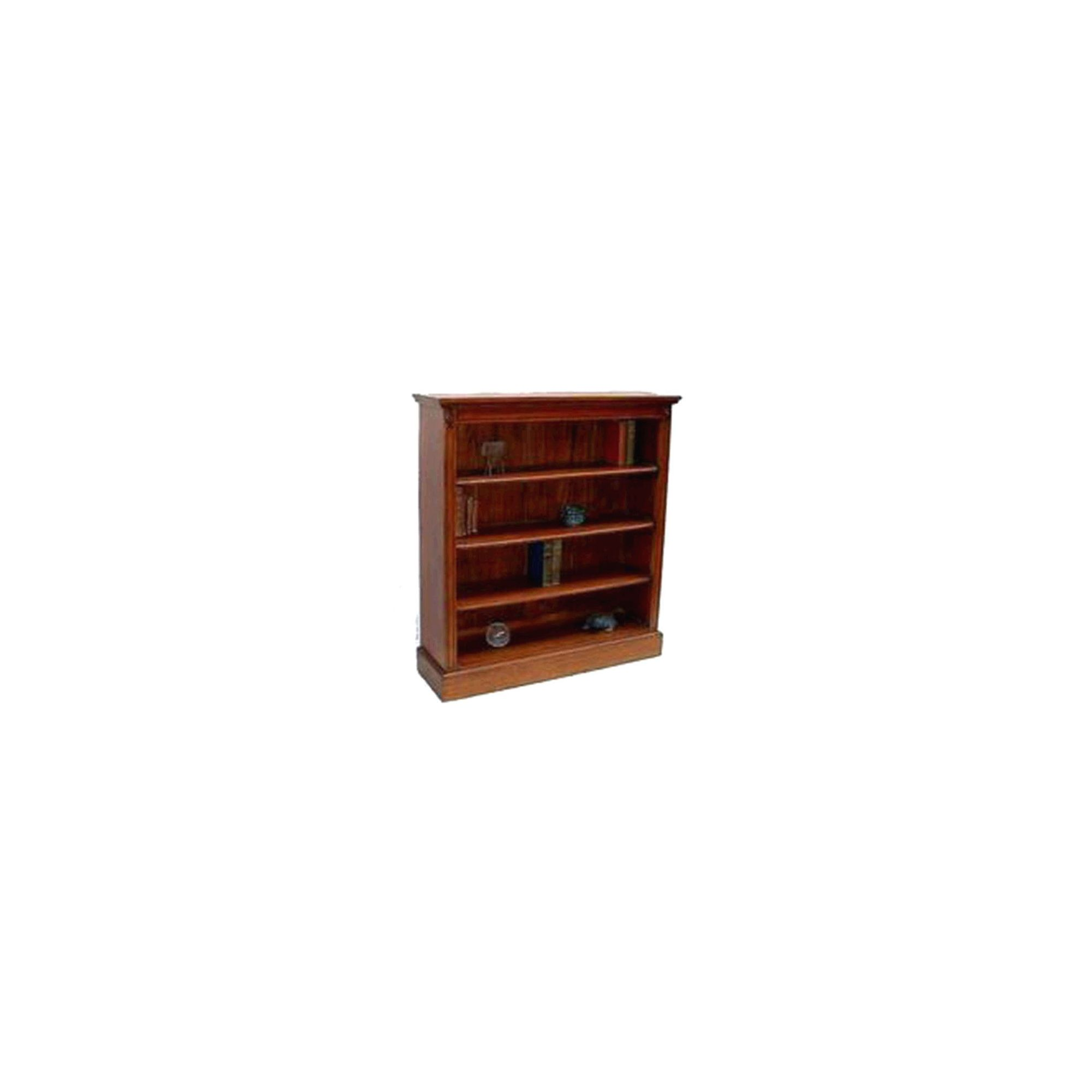 Lock stock and barrel Mahogany Low Wide 3 Shelf Bookcase in Mahogany at Tesco Direct