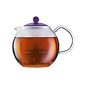 Bodum 1 L Tea Press Teapot, Purple