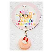 Children's Pink Macaroon Clip on Charm