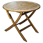 Windsor Wooden Folding Round Garden Table 90cm