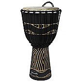 "World Rhythm 10"" Jammer Swirl Black Djembe Drum"