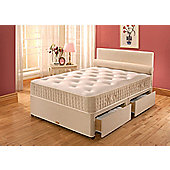Vogue Beds Vogue Latex New Latex Paedic Platform Divan Bed - Single / 2 Drawer